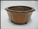Bonsai Pot, Round, 13cm, Red, Glazed